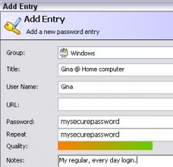AddEntry Password Manager