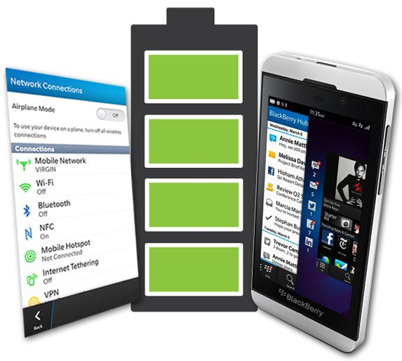 How to Save Battery on Blackberry Z10