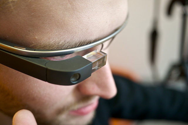 Man with Google Glass photo by Karlis Dambrans. License: CC BY 2.0.