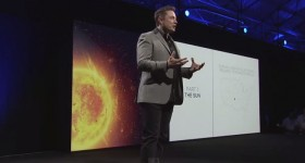 Elon Musk Tesla Energy Powerwall Presentation. Photo by General Physics Laboratory (GPL). License: CC BY-ND 2.0.