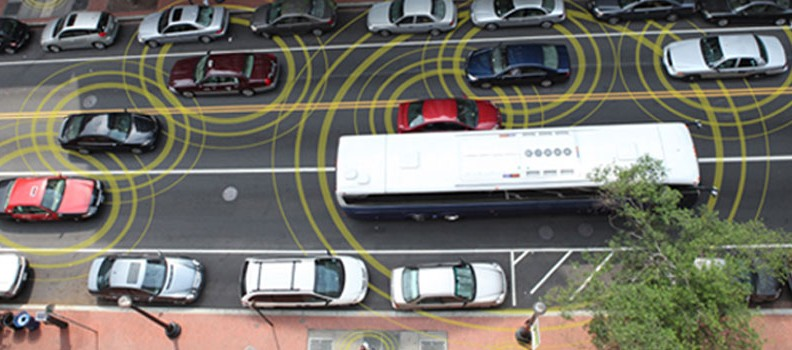 Cars Vehicle-to-Vehicle Communication. Photo by safercar.gov