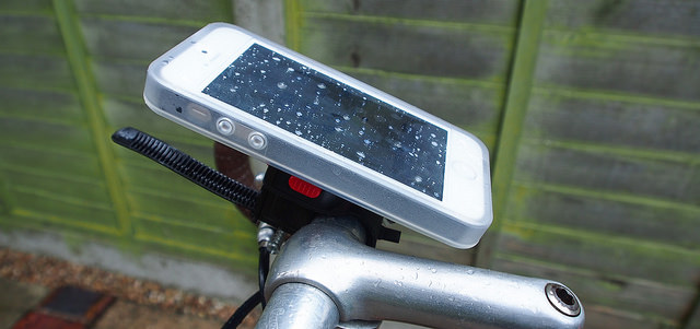 iPhone Bike Mount. Photo by Andreas Kambanis. License: CC BY 2.0.