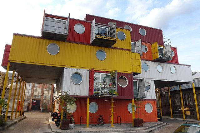 Container City London photo by Cmglee. License: CC BY-SA 3.0.