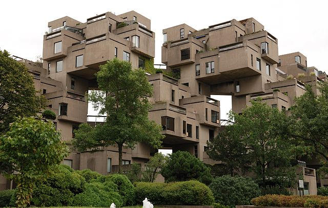 Montreal Habitat67 photo by Wladyslaw Sojka. License: CC BY-SA 3.0.