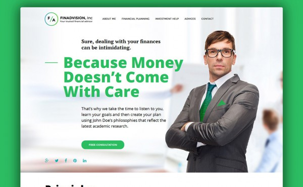 Financial Advisor Responsive WordPress Theme