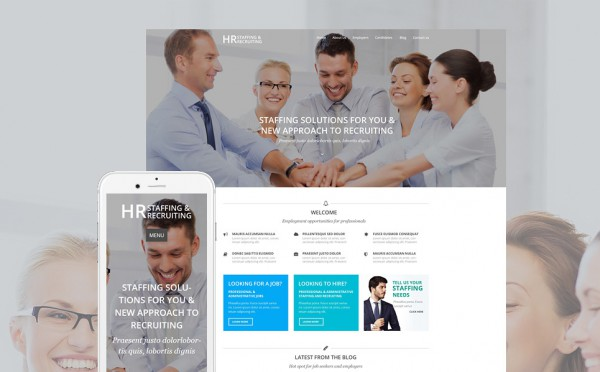 HR Recruiting WordPress Theme